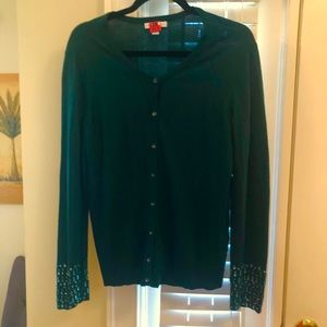 Gorgeous Hunter Green Dress Cardigan XL